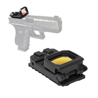Wholesale pistol rail sight for sale - Group buy Tactical Vism Flip Red Dot Pistol Sight Holographic Reflex Docter Sight with G Mount for mm Rail