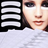 fita de cílios venda por atacado-100 Pcs Eye lash Perm MakeUp Papel Cílios Falsos Extensão Pads Adesivos Fita Adesiva