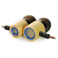 ingrosso telefono basso-Auricolare in legno di alta qualità KZ ED7 auricolare in legno di bambù senza microfono HD HiFi In Ear Auricolari Bass PC Telefono MP3 QIY24 D05