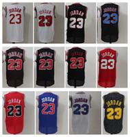 Wholesale Polo Shirt Size - 23 Michael Men's Basketball Jerseys Fashion Jersey Black Blue White Red Size S-XXL Men polo shirt