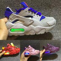 erkek ayakkabıları yanıp sönen ışıklar toptan satış-Nike Air Huarache Flaş Işıklı Çocuklar Hava Huarache Run Ayakkabı Çocuk koşu ayakkabıları Bebek huaraches açık yürümeye başlayan atletik erkek kız sneaker