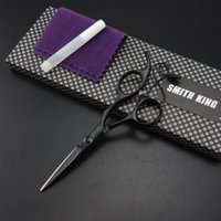 kits de cisailles professionnelles achat en gros de-Ciseaux à coiffer professionnels SMITH KING Ciseaux à couper 5 pouces Cisailles à barbe + kits Y210