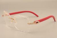 ingrosso incisione su diamanti-2019 nuova moda high-end incisione cornici per occhiali 8300817 oro di lusso serie di diamanti tempio telaio in vetro, 58-18-135mm