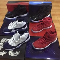 Wholesale High Quality Best Sneakers - With best box high quality Gym Red Midnight Navy men and women 11S Spaces Jams basketball shoes 72-10 Athletic Sport Sneakers