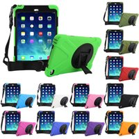 Wholesale wallets shoulder straps resale online - For iPad Mini Air Hybrid Heavy Duty Stand Shockproof Cover Case Shoulder Strap