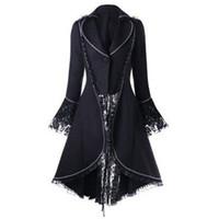 japanische brust großhandel-Japanische Halloween Coole Kostüm Jacke Lolita Weibliche Cosplay Mantel Weiche Schwester Neue Smoking Zweireiher Lolita Coat