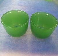 Exquisite jade bowl cup tea set white green ornaments jade cup tea bowl wine glass kungfu flat bottom straight health health