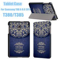 Wholesale thin tablet case for sale - Group buy For Samsung TAB A T380 T385 Tablet Case Ultra Thin PU Leather Flip inch Smart Table Cover DHL Shipping