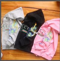 familie zusammenpassende sweatshirts großhandel-Chao Kinder Sweatshirts neuen Stil Buchstaben gedruckt Familie Outfits passenden Kapuzenpullis Kleidung Kleidung Mutter und Kinder