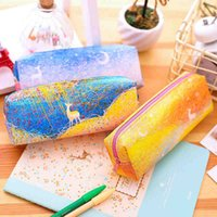 Wholesale look old online - 1pcs deli look for deer pencil student stationery men and women canvas simple box strong and durable storage bag