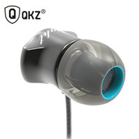 Wholesale Phone Edition - Earphones QKZ DM7 Headphones Special Edition Gold Plated Housing Headset Noise Isolating HD HiFi Earphone auriculares fone de ouvido