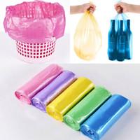 rollos de bolsa de basura al por mayor-45 * 50 cm Bolsa de basura pequeña Bolsas de basura para el baño Cubos de basura para el dormitorio Cocina en casa 7 Color 5 rollos / juego Hacer FBA WX9-493