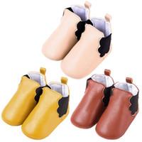 ingrosso scarpa molle elastica del bambino-Baby Boots Elastic Band Morbida suola Scarpe Toddler Elastic PU in pelle scarpe invernali per bambini prima Walker scarpe Prewalk