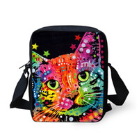 Wholesale Men Body Painting - Hot Sale Bulldog Painting Messenger Bags for Women Hot Sale Mini Small Cross Body Bags for Teenager Child Vintage Shoulder Bags