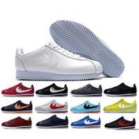 Wholesale Outdoor Leisure Shoes - famous brand Casual Shoes men and women cortez shoes leisure Shells shoes cortez QS breathable Leather fashion outdoor Sneakers Eur 36-44