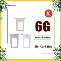 adaptadores para cartão sim venda por atacado-Nano slot para cartão slot titular kit de substituição kit adaptador de reparo para iphone 6 peças para iphone 6 6g i6 cinza prata ouro