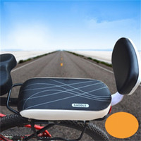 Wholesale saddles road full carbon resale online - Mountain Bike Cushion Thickening Backseat Saddle Accessories With Backrest Pu Leather Anti Slip Soft Seat High Quality xq Ww