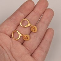 gifts for girls Australia - earrings Anniyo Gold Color Small Earring for Girls Baby Fashion Promotional Jewelry Gift #004216 heart earrings