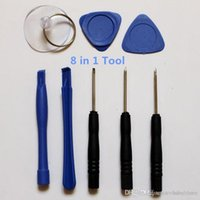 schlitztelefon-kit großhandel-Handy Reparing Tools 8 in 1 Reparatur-Kit Öffnungswerkzeuge Pentalobe Torx Schlitzschraubendreher für Apple iPhone Ipad