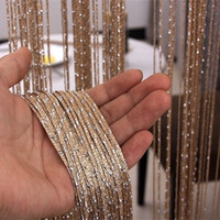 Wholesale Flat Silver Wedding Decoration Door Curtain High Grade Thickening Room Dividers Home Decor Line Curtains Hot Sale lm Ww