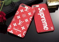 Wholesale plus gift online - Luxury Case for iPhone X XR XS Max Inch Fashion Leather Sup Phone Back Case For Apple iphone s Plus Male Girl Branded Gift Cove