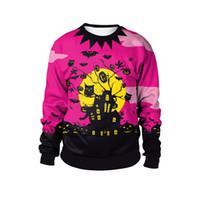ropa de fiesta xxl al por mayor-Disfraces de Cosplay de Halloween Moda Nueva Ropa colorida O cuello con capucha Viste traje de fiesta sudaderas M-2XL