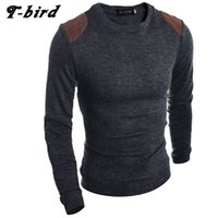 Wholesale Birds Skin - T-bird 2017 Fashion Brand Clothing Men Sweater Fight The Skin O-Neck Slim Fit Casual Pullover Men Sweaters Knitting Mens XXL WEM