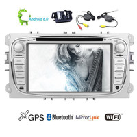 Wholesale ford focus mirrors - Eincar Android6.0 Car DVD Player Vehicles in Dash for Focus GPS Navigation Stereo system Quad-core 16G ROM Car Radio Stereo Wifi Mirror