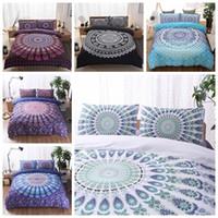 Wholesale Quilts Modern - 5 Colors 3D Bedding Sets Queen Size Bohemian Mandala Bedding Quilt Duvet Cover Set Sheet Pillow Cover Bedding Set Gifts CCA9053 5set
