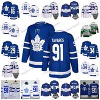 Discount hockey jersey 91 - Men's Toronto Maple Leafs #34 Auston 16 Mitch Marner 29 William Nylander 91 John Tavares 100th Centennial Classic St Pats Hockey Jersey