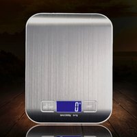 Wholesale stainless kitchen scale for sale - Group buy 5KG display etekcity cooking digital multifunction electronic stainless steel scale food weighing scale kitchen scale wit by sea