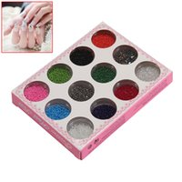 Wholesale beautiful art sets for sale - Group buy 12 Multi Color Irregular Beads Set for Nail Art Tips Beautiful Decoration