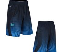 Wholesale thin waist men - New fashion KD men's basketball pants men's Thin loose sport pants Fitness breathable dry sports shorts