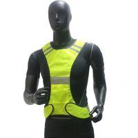 ingrosso giacca arancione-Gilet riflettente giallo arancio con gilet riflettente ad alta visibilità per gilet da equitazione da corsa all'aperto