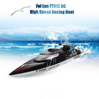 ingrosso h barca-Fei Lun FT012 2.4G 4CH 45km / h Sistema di raffreddamento ad acqua Dispositivo di regolazione fine anticollisione Telecomando senza spazzole Barche da regata