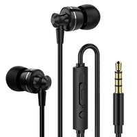 Wholesale noise black metal for sale - Group buy 2018 new PTM D11 In ear Super Bass Earphone With Mic Volume Control Metal Headset for Phones Xiaomi Samsung MP3