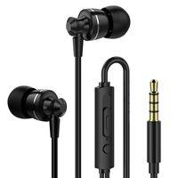 micrófono de 2,5 mm al por mayor-2018 nuevo PTM D11 Auricular Super Bass In-ear con micrófono Control de volumen Auriculares de metal para teléfonos Xiaomi Samsung MP3
