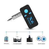 youtube arabic venda por atacado-Receptor de Bluetooth Handsfree Carkit 3.5mm Jack Car AUX Áudio Mini Adaptador Sem Fio TF Card Play Mp3 Receptor de Música