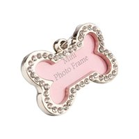 Wholesale personalized cat gifts online - ON SALE Free shipment JI Personalized Engraved Cartoon Cat Stainless Steel Dog Tag Keychain Gift