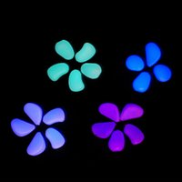 ingrosso ciottoli pietre-10 pz / lotto colore misto pietra di bagliore Illuminare giocattoli Luminoso pietra notte luce decorazioni giardino ornamenti di serbatoio di pesce pietre ciottoli