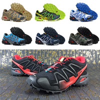 Wholesale green light travel - 16 color 2018 Men New Designer Sports Running Shoes for Men salo walking shoes Speed Cross IV Sneakers Trekking Travel Essentials EUR 40-46