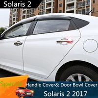 Wholesale chrome door handle cover bowls - For Hyundai Solaris 2 2017 Door Handle Cover Chromium Styling Door Bowl Pull Chrome Car-styling Exterior for New Solaris 2017