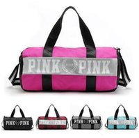 Wholesale Nude Love - Handbags Fashion Women Bags Love Pink Famous Brand Canvas Large Capacity Travel Duffle Sports Travel Beach Bag Free Shipping 1 pcs