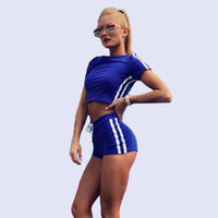 cfce0a74f7a1 CINQ DIAMANTS Two Piece Set Tops And Shorts Hot Summer Clothes For Women  Casual Tracksuit Croped Top Set Tshirt Women s Costume