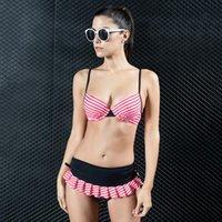 0e0d905bd Nuevas mujeres traje de baño de verano más el tamaño Sexy mujeres al por  mayor Split triángulo Sexy Bikinis Slim Spa traje de baño profesional  Natación ...