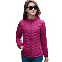 Wholesale Light Winter Coats For Women - Stand collar light thin women winter jacket 2018 slim short solid womens coat jaqueta feminina outerwear for women autumn parka