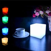 Wholesale Glowing Nightlight - Mising 7 Colors Romantic Changing Mood Cubes LED Night Light Lamp Glow Gadget Gizmo Light Home Colorful Decoration Nightlight