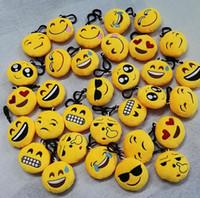 emoticon plüsch großhandel-Niedlicher Cartoon-QQ WeChat Keychain Plüsch-Schlüsselanhänger Emoticon-Beutel-Aufhänger-Telefon-Kette, Anhänger, Schlüssel Buckle Kreative Spielwaren-Geschenke
