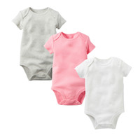 Wholesale infant halloween onesies resale online - 2018 Baby Rompers Suit Summer Infant Triangle Romper Onesies cotton Short sleeved babies clothes