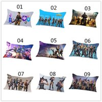 Wholesale pillowcase kids - 40cmx60cm One piece Game Fortnite Pillow Case Cover Cotton Standard Pillowcase Action Figure Gifts for Kids Party
